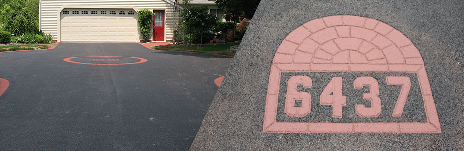 Stamped Asphalt personalized pavement designs